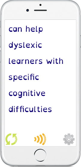 Easy Dyslexia Aid - can help dyslexic learners with specific cognitive difficulties