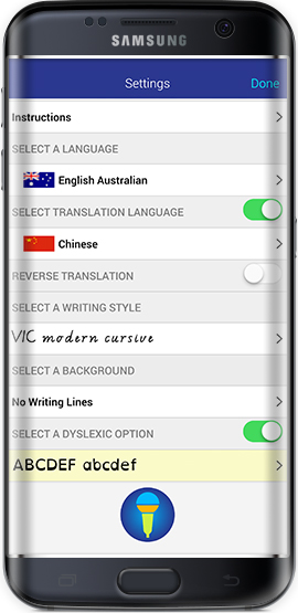Easy Spelling Aid - Android Settings