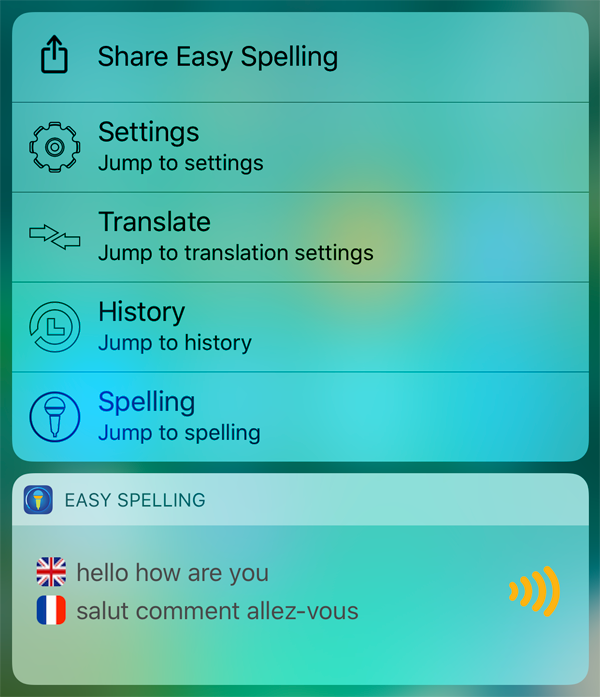 Easy Spelling Aid 3D Touch